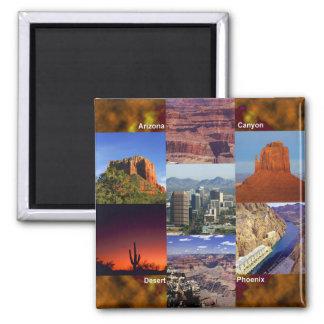 Arizona Desert Collage Square Magnet