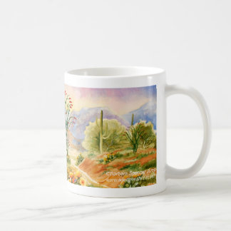 Arizona Desert Landscape Ocotillo in Bloom Coffee Mug