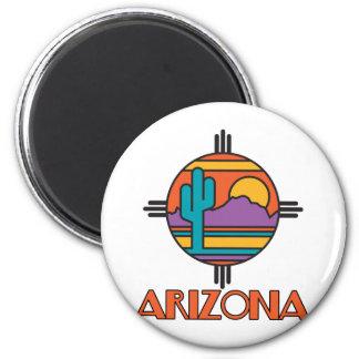 Arizona Desert Mandala Fridge Magnet