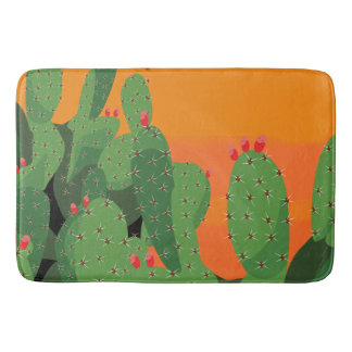 Arizona Desert Prickly Pear Bath Mat