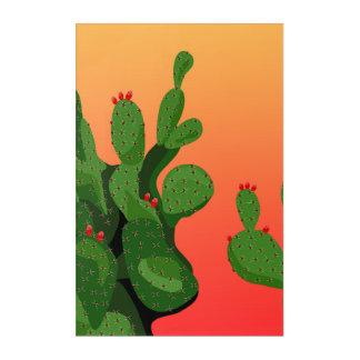 Arizona Desert Prickly Pear Wall Art Acrylic