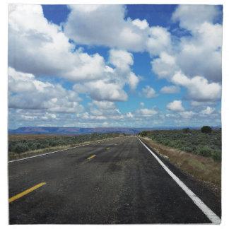 Arizona Desert Road in the southwestern U.S. Printed Napkin