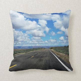 Arizona Desert Road in the southwestern U.S. Throw Pillow