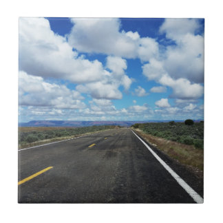 Arizona Desert Road in the southwestern U.S. Tiles