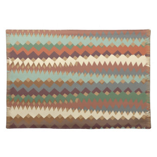 Arizona Desert Tribal ZigZag Camouflage Placemat