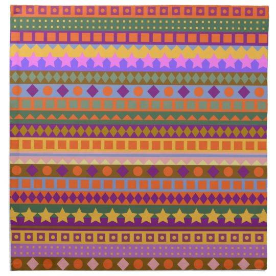 Arizona Dreams Aztec Desert Southwest Zigzag Cloth Napkins