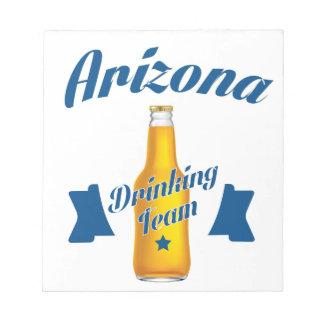 Arizona Drinking team Notepad