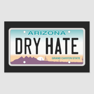 Arizona Dry Hate Sticker
