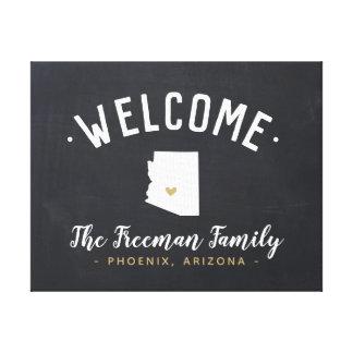 Arizona Family Monogram Welcome Sign