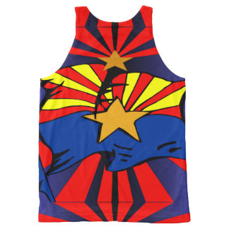 Arizona Flag All-Over-Print Tank Top
