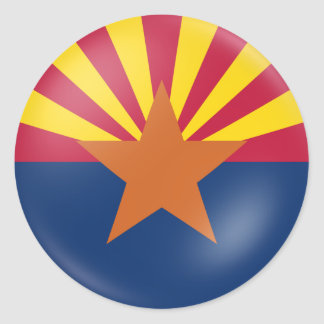 Arizona Flag Classic Round Sticker