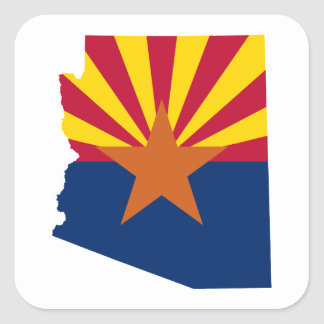 Arizona Flag Colors Square Sticker