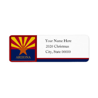 Arizona Flag Custom Return Address Label