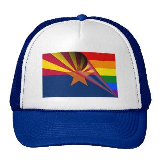 Arizona Flag Gay Pride Rainbow Trucker Hat
