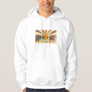 Arizona Flag Grand Canyon Distressed Art Hoodie
