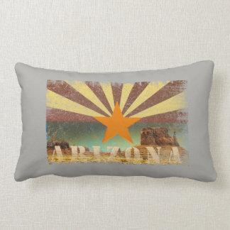 Arizona Flag Grand Canyon Distressed Art Lumbar Pillow