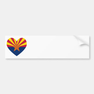 Arizona Flag Heart Shape Bumper Sticker