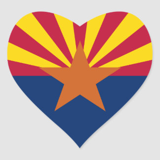 Arizona Flag Heart Sticker