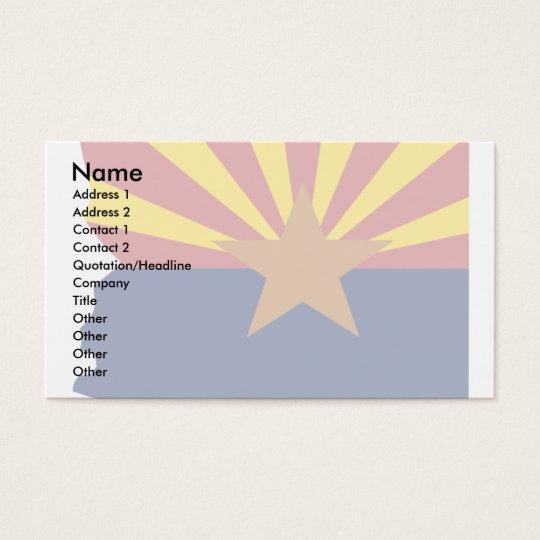 Arizona Flag Map Business Card