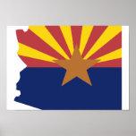 Arizona Flag Map Print
