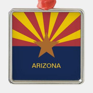 Arizona Flag Metal Ornament