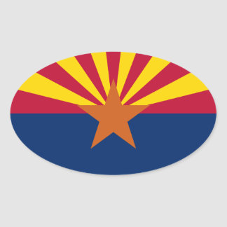 Arizona Flag Oval Sticker