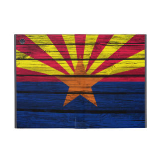 Arizona Flag Painted on Rustic Wood iPad Mini Covers