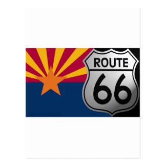 Arizona Flag Route 66 Postcard
