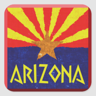 ARIZONA FLAG SQUARE STICKER