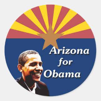 Arizona for Obama State Flag Design Round Sticker