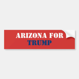 ARIZONA FOR TRUMP BUMPER STICKER