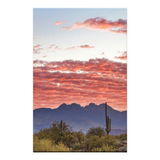 Arizona Four Peaks Mountain Colorful View Stationery
