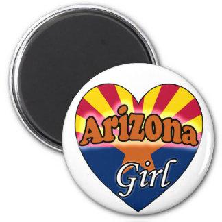 Arizona Girl 2 Inch Round Magnet