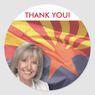 Arizona Governor Jan Brewer Round Sticker