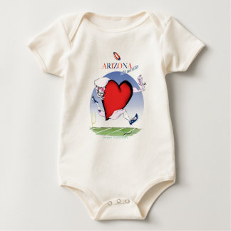 arizona head heart, tony fernandes baby bodysuit