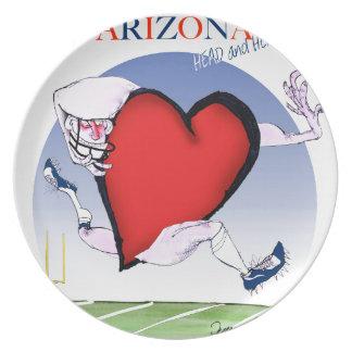 arizona head heart, tony fernandes dinner plate