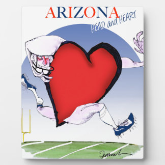 arizona head heart, tony fernandes plaque