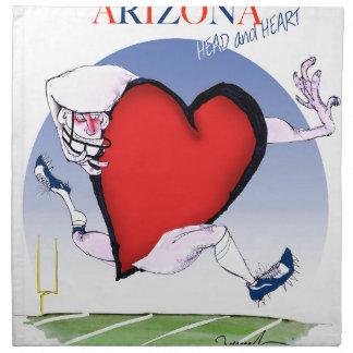 arizona head heart, tony fernandes printed napkins