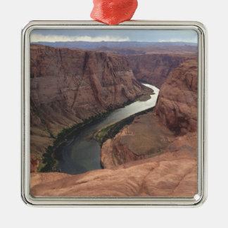ARIZONA - Horseshoe Bend A - Red Rock Metal Ornament