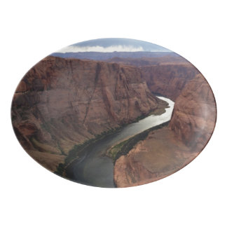ARIZONA - Horseshoe Bend A - Red Rock Porcelain Serving Platter