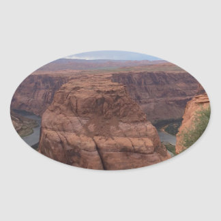 ARIZONA - Horseshoe Bend AB2 - Red Rock Oval Sticker
