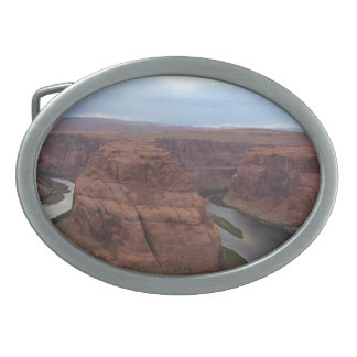 ARIZONA - Horseshoe Bend AB - Red Rock Oval Belt Buckles