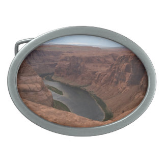 ARIZONA - Horseshoe Bend B - Red Rock Oval Belt Buckle
