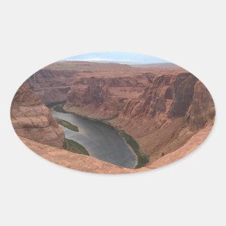 ARIZONA - Horseshoe Bend B - Red Rock Oval Sticker