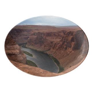 ARIZONA - Horseshoe Bend B - Red Rock Porcelain Serving Platter