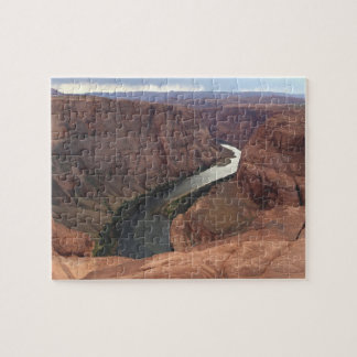 ARIZONA - Horseshoe Bend Canyon A - Red Rock Jigsaw Puzzle