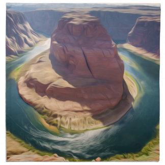 Arizona Horseshoe Bend meander of Colorado River i Napkins
