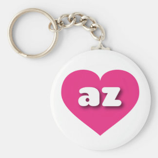 Arizona hot pink heart - mini love keychain