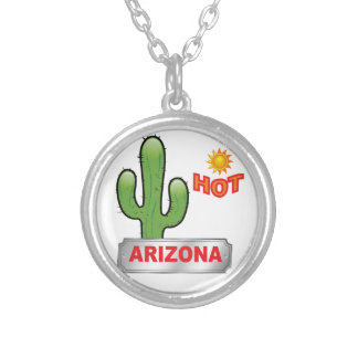 Arizona hot red silver plated necklace