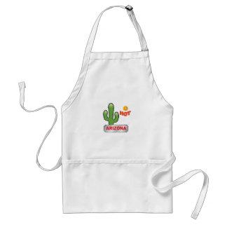 Arizona hot red standard apron